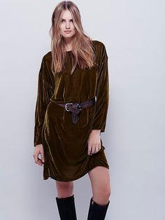 Free People Bridget Velvet Dress, $218.00