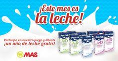 Sorteo de un año de leche @puleva gratis con @supermercadomas!