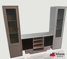 Centro de Entretenimiento Minimalista Mod. KING ARMOR. Incluye: 1 mueble central para pantalla y 2 torres laterales. Medidas: Largo 2mts, Alto 1.60m, Fondo 40cm --DISPONIBLE EN CUALQUIER COLOR. Precio: $3,990