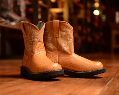 Ariat Women's Fatbaby Cowgirl Boot - Cognac Ostrich Print  http://www.countryoutfitter.com/products/16162?lhs=u_i_i_n_alhb=CO&lhc=womens_boots&lhg=ariat&utm_source=pinterest&utm_medium=social