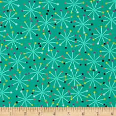 Michael Miller Love to Sew Pin Spin Teal