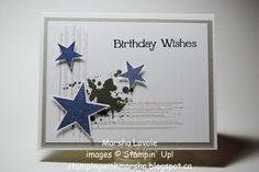 Stamps: Simply Stars, Gorgeous Grunge, For You Paper: Whisper White, Sahara Sand Ink: Sahara Sand, Always Artichoke, Night of Navy, Black ...