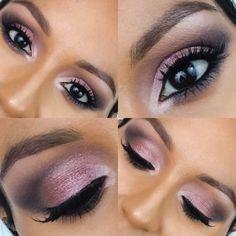 Sultry & smoky eye ft Maybelline Blushed Nudes palette #eyes #purple #eyemakeup