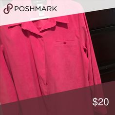 Long Sleeve Button Up Shirt Long Sleeve Button up with pocket.. Velvet Feel.. Sag Harbor Tops Button Down Shirts