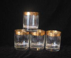 Set of 4 Vintage Gold Filigree Etched by VintageClassicWares, $24.00