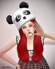 Jenni Sims: Accessory Hat Up Pom Pom • Sims 4 Downloads