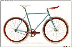 bike red and turquoise - love at first sight