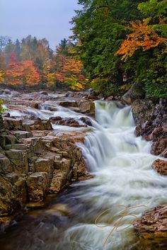 Rocky Gorge, Autumn Mist. You can't beat Autumn in New Hampshire, even in the rain.