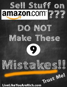 Amazon is one of the best places to sell items online, but only if you are aware of 9 common mistakes.  This is a great guide to getting the most out of your Amazon selling experience.
