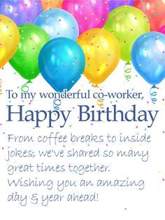 To My Wonderful Co Worker
