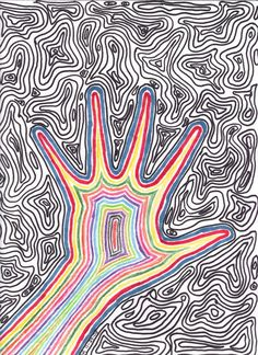 Easy Trippy Drawings Trippy by xxxlittleghostxxx Drawings in trippy drawings - Drawing Tips Psychedelic Drawings, Trippy Drawings, Easy Drawings, Hippie Drawing, Hippie Art, Hippie Bohemian, Trippy Painting, Painting & Drawing, Drawing Tips