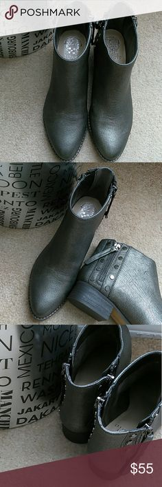 New Vince Camuto Leather Metallic Booties New Vince Camuto Leather Metallic Booties. Side zippers with stud detailing. Vince Camuto Shoes