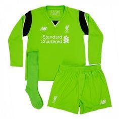 #Liverpool Trøje Børn 16-17 Målmand Hjemmebanesæt Lange ærmer.222,01KR.shirtshopservice@gmail.com