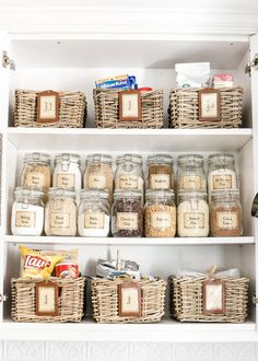 Image result for organizing a pantry with jars from ikea