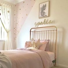 Incy interiors rose gold metal framed single bed, a stunning rose gold single bed for children Blush Bedroom Decor, Bedroom Ideas, Bedroom Inspo, Single Metal Bed Frame, Rose Gold Bed, Cool Kids Bedrooms, Kids Rooms, Single Bedroom, Single Beds