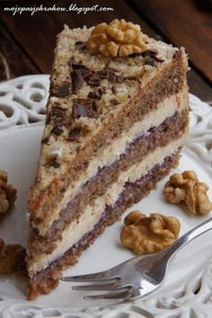 Pastry Recipes, Cake Recipes, Dessert Recipes, Cooking Recipes, Polish Desserts, Polish Recipes, Easy Blueberry Muffins, Icebox Cake, Healthy Cake