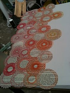 SPIROGRAPH over newsprint, won't notice the imperfections?