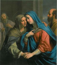 Philippe de Champaigne (French, 'The Visitation' Seattle Art Museum Blessed Mother Mary, Blessed Virgin Mary, Catholic Art, Religious Art, Roman Catholic, Madonna, Rosary Mysteries, Philippe De Champaigne, Jesus E Maria