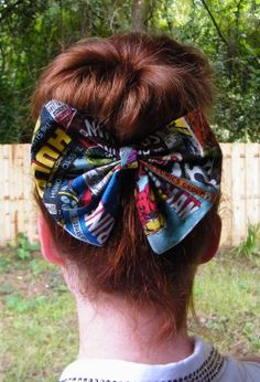 Big Avengers Hair Bow!!!!!!!!!!! Imagine just pulling that out at any random moment