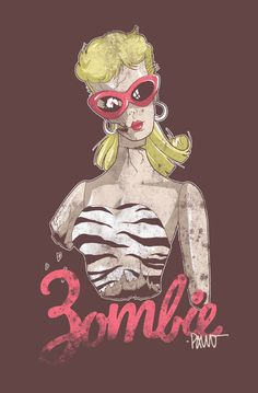 It's like my childhood and adulthood crashed into each other and this was the outcome lol. Who doesn't love a Zombie Barbie? #Zombie #Barbie by Paulo - http://paulorocker.deviantart.com/