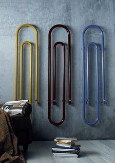 Graffe, un radiador con forma de Clip que es parte del amplio catálogo de la compañía Scirocco, firma italiana que se dedica a comercializar radiadores y toalleros