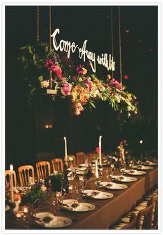 Hanging wedding flowers...love!!