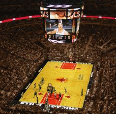 Her big present Chicago Bulls Stadium on Canvas Wrap Art Print by HolyCowCanvas,