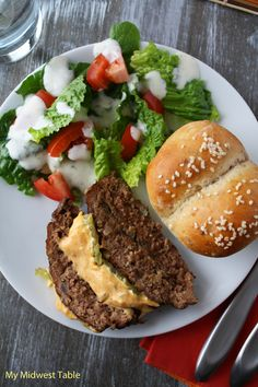 Cheeseburger Meatloaf with Famous Burger Sauce