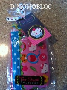 Very cute custom insulin pump pouch from Too Sweet Boutique.