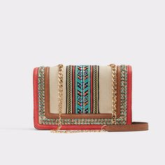 This fabric crossbody bag comes paired with a chain strap and structured  silhouette to wear and layer all year round. ab03f89aa2e48