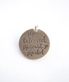 Sterling Silver Expressions 'So She Did' Pendant