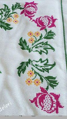Cross Stitch Art, Cross Stitch Borders, Cross Stitch Flowers, Cross Stitching, Crochet Bedspread, Hand Embroidery Patterns, Cutwork, Baby Patterns, Handicraft
