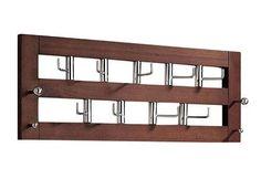 moderne kapstok met een dubbele rij haken