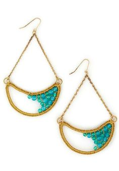 For Many Moons Earrings, #ModCloth