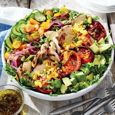 Grilled Chicken and Vegetable Salad   Coastalliving.com