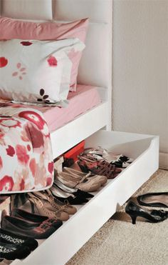 Under Bed Shoe Storage With Wheels So Many Shoes So Little Space Nix Your Shoe Storage Woes With