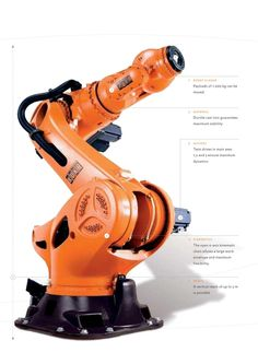 "2007  KR 1000 titan ""titan"": the world's strongest robot. The KUKA ""titan"" can hold its own among the really big hitters. With a payload capacity of 1000 kilograms and a reach of 3200 mm, it is the largest and strongest 6-axis industrial robot in the world. For KUKA Roboter GmbH, this is fresh proof of the company's innovative drive, earning it a place in the Guinness Book of Records."