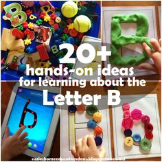 hands-on ideas for learning about the Letter B Suzie's Home Education Ideas: hands-on ideas for learning about the Letter BBig Ideas Big Ideas may refer to: Teaching Letters, Learning The Alphabet, Home Learning, Early Learning, Fun Learning, Dot Letters, Alphabet Letter Crafts, Letter Art, Letter B Activities