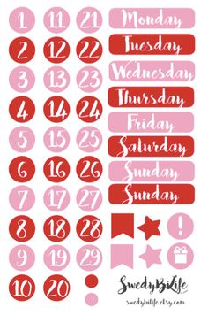 B19 Date Stickers in the Monthly VERTICAL ECLP by SwedyBiLife