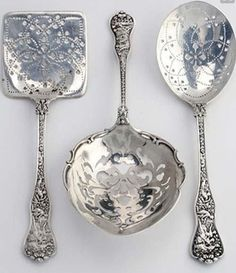 "and Unusual Utensils Beautiful Sterling Serving Spoons .one of my favorites Tiffany and Co ""Olympian"" It is beautiful up closeBeautiful Sterling Serving Spoons .one of my favorites Tiffany and Co ""Olympian"" It is beautiful up close"