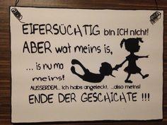""""""" eifersüchtig bin ich nicht ... """" - Wandschild Deko Shabby Vintage   eBay"""