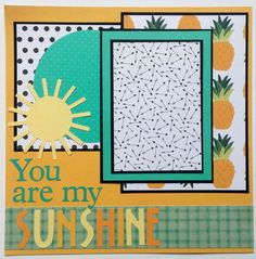 This is a great premade scrapbook layout that is very versatile. You are my sunshine is a favorite song amongst many families to sing to their little ones. I know this song has a special place in our family history. This scrapbook page would also be great with summer photos! I hope that this layout will have a place in your family scrapbooks. This is a 12x12 one page premade scrapbook layout. There is one mat which will hold a 4x6 photo nicely. Thank you for looking! There are over 100…