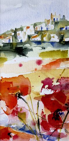 """""""Triptyque Provençal 01"""" by Véronique Piaser-Moyen"""