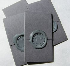 cards that look like letters stamped with wax