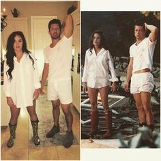 The hottest couples costumes for Halloween this year The Brangelina divorce will likely prompt some Brad and Angelina costumes, like this easy Mr. Hot Couple Costumes, Cute Couple Halloween Costumes, Hallowen Costume, Halloween This Year, Halloween Kostüm, Halloween Outfits, Couple Costume Ideas, Halloween Couples, Sexy Couples Costumes