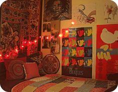 dorm design ideas, woodstock poster // dorm room inspiration