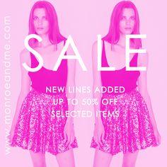 SHOP SALE! #sale #shopnow #fashion #style #trend #discount #bargain #monroeandme #dubai #abudhabi #uae #kuwait #saudiarabia #lebanon #bahrain #qatar #jordan #oman #egypt #cyprus  www.monroeandme.com/uae-catalogue/sale/c-24/c-91