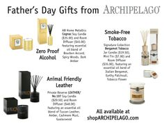 Father's Day Gifts From Archipelago!  shoparchipelago.com