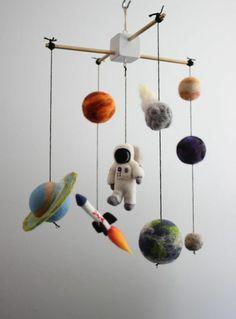 Mobile in der Form des Sonnensystems mit allen Planeten