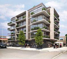 Architecture Building Design, Hotel Architecture, Green Architecture, Building Facade, Building Exterior, Facade Design, Residential Architecture, Exterior Design, Small Buildings